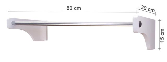 Imagem de Cabideiro De Parede 80 cm Arara Camiseiro Calceiro - Branco Laca