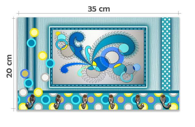 Imagem de Cabideiro de Parede Porta Colar Chaves Cintos Toalhas - Ondas Dançantes