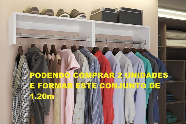 Imagem de Cabideiro Prateleira Arara Roupas