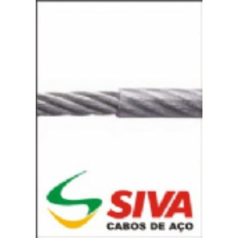 Imagem de Cabo Aco Siva  Academia  4,8mm 6x19 200m Preto  3caa07252