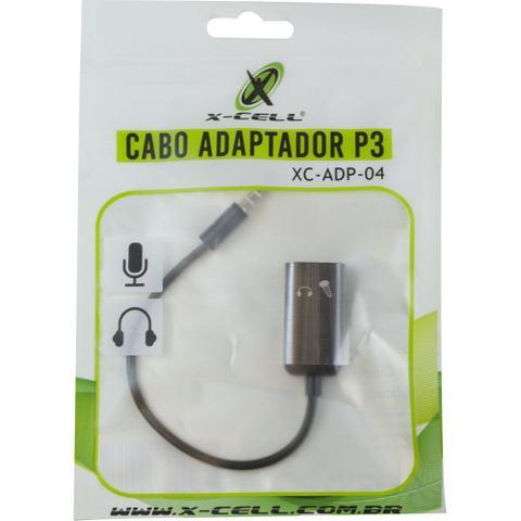 Imagem de Cabo Adaptador P3 - Fone e Microfone - X-Cell