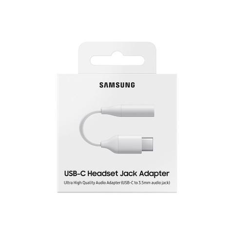 Imagem de Cabo Adaptador Samsung Tipo C para conector de Áudio 3.5mm, Branco - EE-UC10JUWEGBR