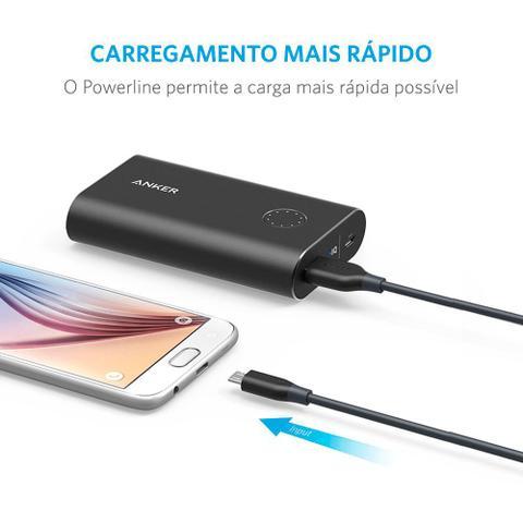 Imagem de Cabo Anker Powerline Micro USB Android  3 metros Cinza