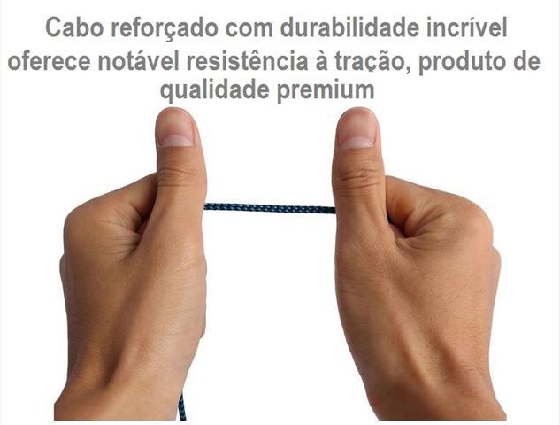 Imagem de Cabo Áudio Auxiliar 3.5mm 1 Mt Carro Som Fone Celular Tablet