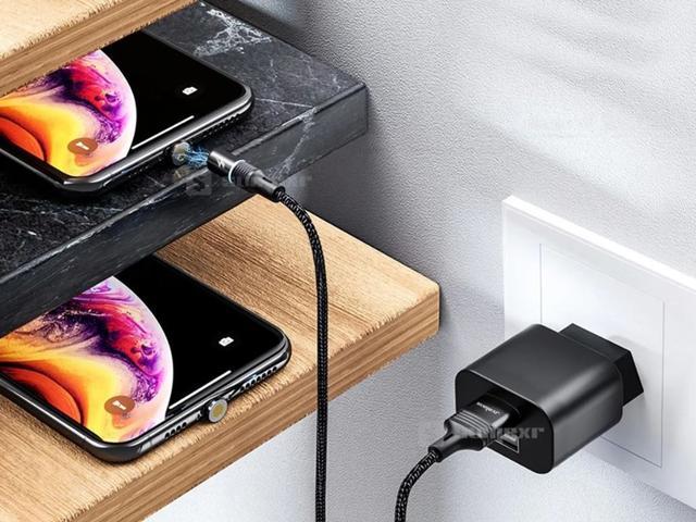 Imagem de Cabo Carregador Magnetico Tipo Usb Type C, Lightning, Micro USB V8 Original Celular