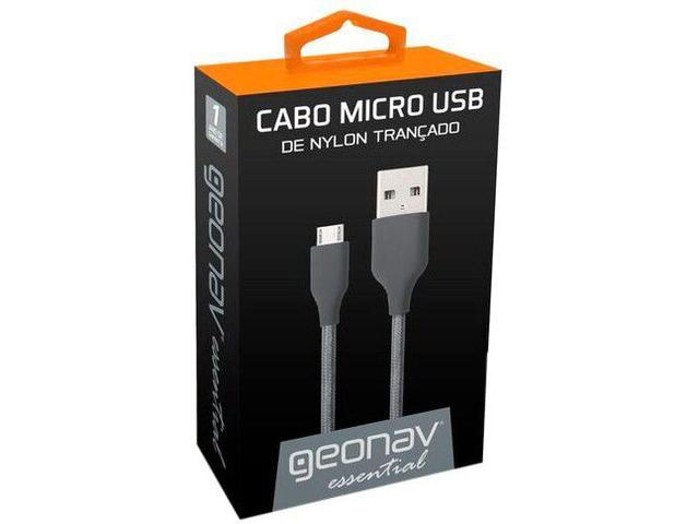 Imagem de Cabo Carregador Micro USB Geonav 1m