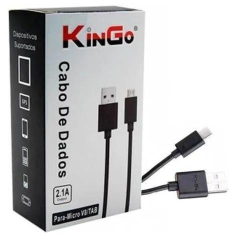 Imagem de Cabo Dados Micro USB V8 - Preto - Kingo
