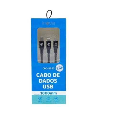 Imagem de Cabo De Dados Usb Carga Rápida 3 Em 1 Tipo C V8 I6