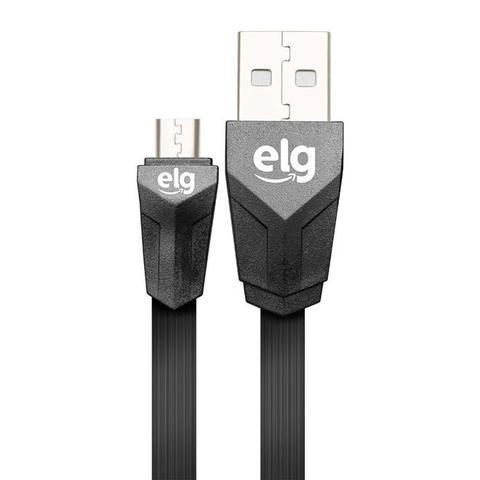 Imagem de Cabo Flat Micro USB para Recarga e Sincronização 1,25 metro - ELG