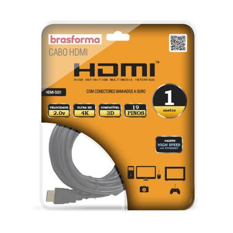Imagem de Cabo HDMI 2.0 de 5m preto HDMI5005 Brasforma