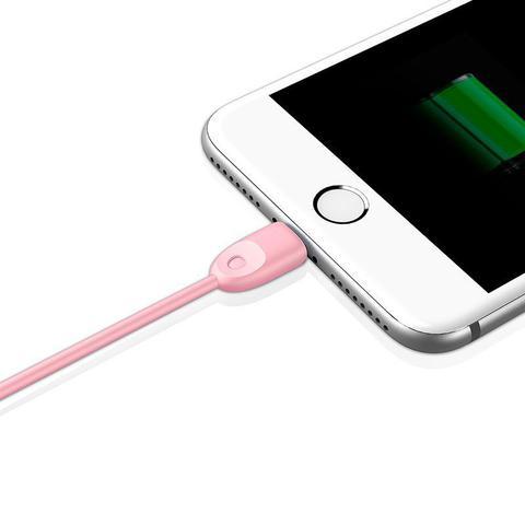 Imagem de Cabo Lightning Homologado MFI para Apple iPod, iPhone e IPad Baseus Rainbow TPU 1M