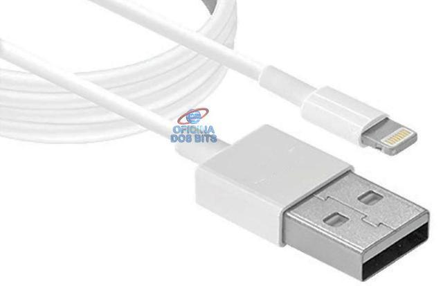 Imagem de Cabo Lightning para USB 8 Pinos - Para iPhone 5/iPod Touch 5/Nano 7/iPad 4/iPad Mini - 1,8 metros