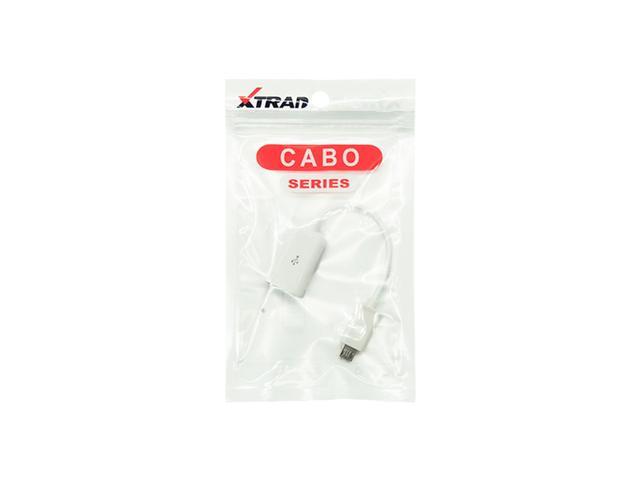 Imagem de Cabo OTG V8 (micro USB) para USB fêmea Xtrad XT-2095