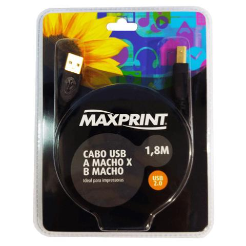 Imagem de Cabo para Impressora Maxprint A/B 1,8m
