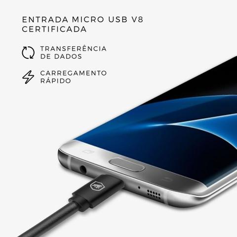 Imagem de Cabo turbo Militar micro USB Gorila Shield para lg K10 Pro