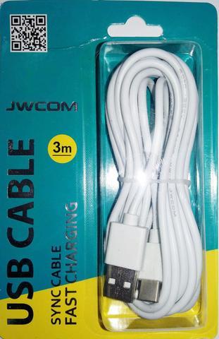 Imagem de CABO USB 3 METROS TYPE-C com tecnologia turbo
