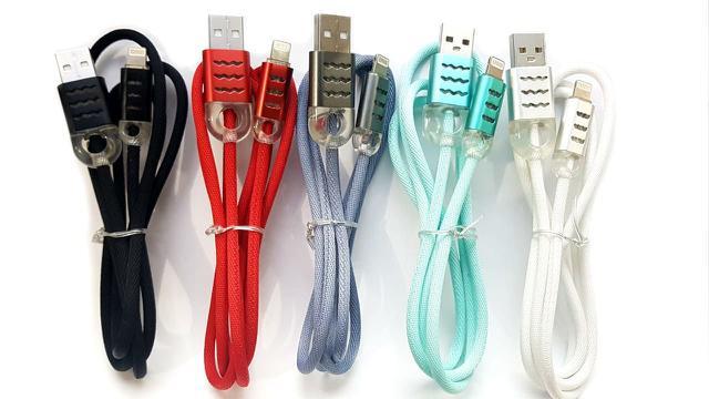 Imagem de Cabo Usb Inova Iphone 5 5s 5c 6 6s 7 Plus com Led Colorido 1 Metro - Escolha Cor