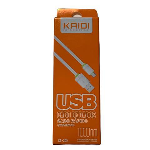 Imagem de Cabo V8 Fast Charge 1M Kaidi KD-305
