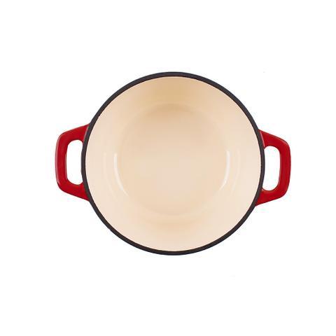 Imagem de Caçarola De Ferro Fundido Esmaltado Redonda 21 cm - Stex Cookware - 3,0 litros - Vermelha