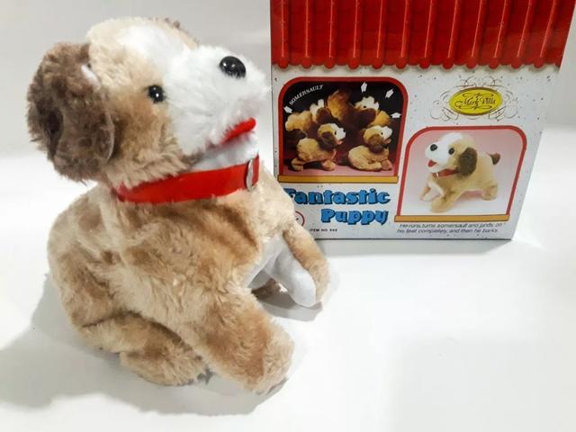 Imagem de Cachorrinho Pelucia Puppy Anda Late Cambalhotas Cachorro