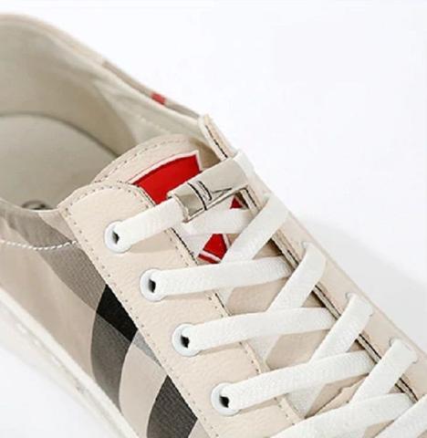 Imagem de Cadarço C/elástico P/ Tênis C/fecho Magnético Branco