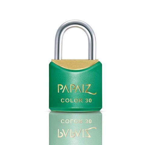 Imagem de Cadeado com Chave 30mm Latão Verde Color Line Papaiz