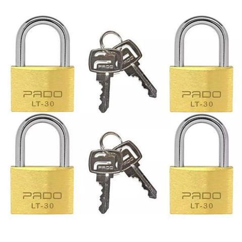 Imagem de Cadeado com Chave 30MM LT-30MM 4 Peças Pado Bronze 51003002