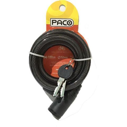 Imagem de Cadeado Espiral Chave Tetra Grosso 12x1000mm Paco