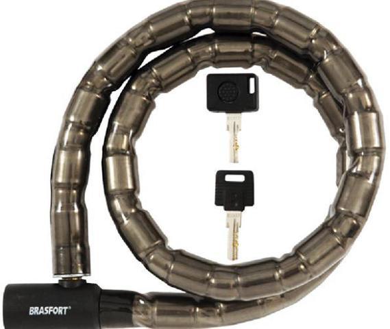 Imagem de Cadeado Trava Tranca de Segurança Anti Furto Para Moto Cabo de Aço Blindado Chave Luz Led com Segredo Especial-Brasfort