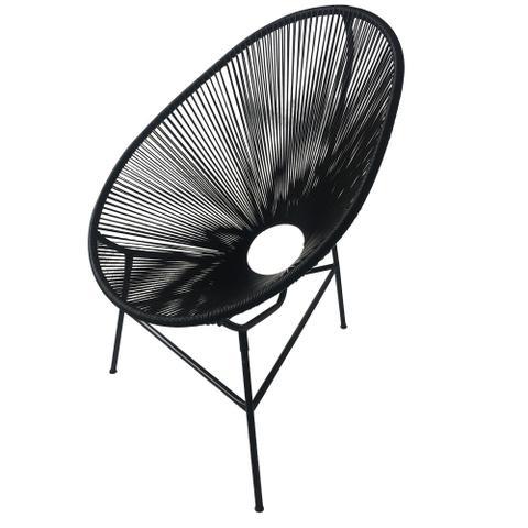 Imagem de Cadeira Acapulco Preta - Decora na Net
