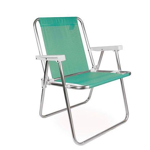 Imagem de Cadeira alta aluminio tela sannet verde-maca - mor