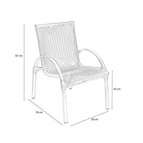 Imagem de Cadeira Alumínio e Fibra Sintética Fibrillare Ipê