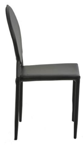 Imagem de Cadeira Amanda Medalhao 6606 em Metal PVC Preto - 32872