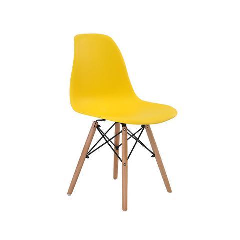 Imagem de Cadeira Charles Eames Wood DSW Eiffel Base Madeira Amarela