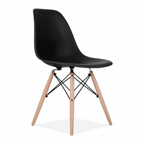 Imagem de Cadeira Charles Eames Wood Eiffel - Preta