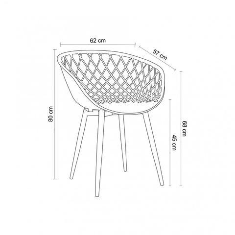 Imagem de Cadeira com Braços Polipropileno Clarice Rivatti Cereja