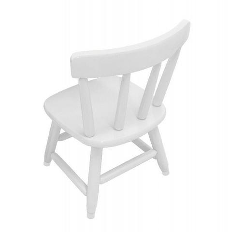Imagem de Cadeira Country Infantil de Madeira Maciça Branca