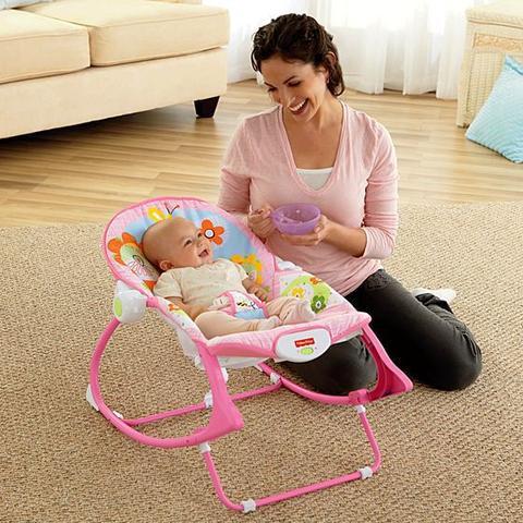 Imagem de Cadeira de Balanço Vibratória Rosa Meninas até 18kg Fisher Price - Y4544
