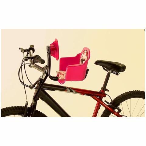 Imagem de Cadeira De Bicicleta Bike Dianteira Frontal Cadeirinha Luxo Azul Oferta