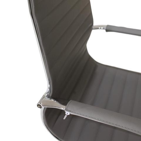 Imagem de Cadeira De Escritório Cinza Presidente Ergonômica Charles Eames Eiffel Stripes Esteirinha