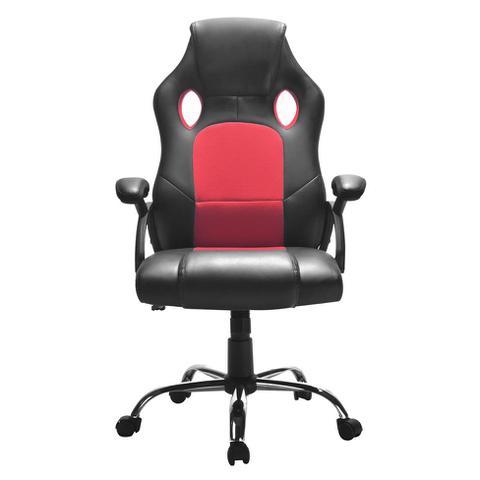 Imagem de Cadeira de Escritório Diretor Giratória Gamer Play Preta e Vermelha