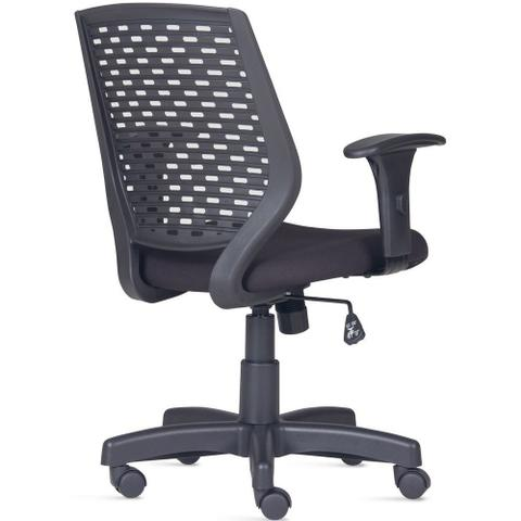 Imagem de Cadeira de Escritório Giratória Executiva Ergonômica Tech Suede Preto - Lyam Decor