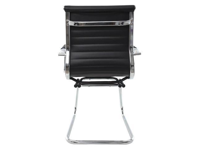 Imagem de Cadeira De Escritório Intelocutor Stripes Fixa Charles Eames Eiffel Elegante E Confortável Preta