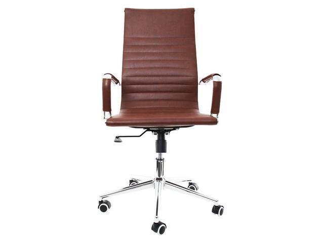 Imagem de Cadeira De Escritório Presidente Ergonômica Charles Eames Eiffel Stripes Esteirinha