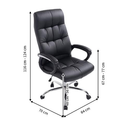 Imagem de Cadeira de Escritório Presidente Marjo Preta