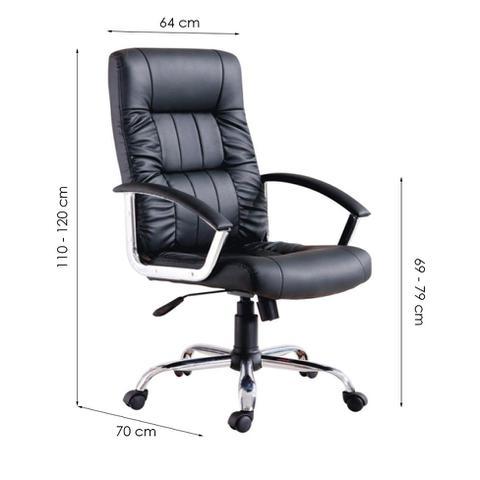 Imagem de Cadeira de Escritório Presidente Office Plus Preta