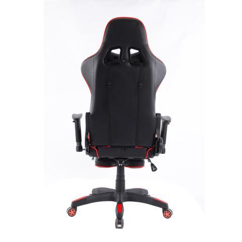 Imagem de Cadeira de Escritório Presidente Reclinável Gamer Preta e Vermelha