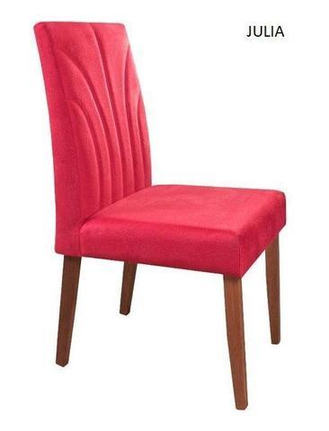 Imagem de Cadeira de Jantar Decorativa Pé Madeira Sala de Jantar Nova
