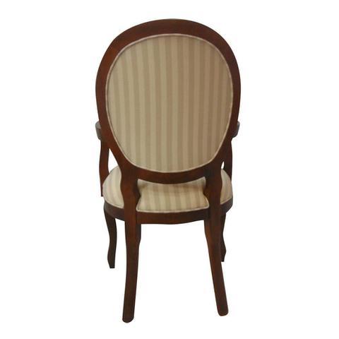Imagem de Cadeira de Jantar Medalhão Capitonê com Braço Capuccino Fosco e Willian Bege