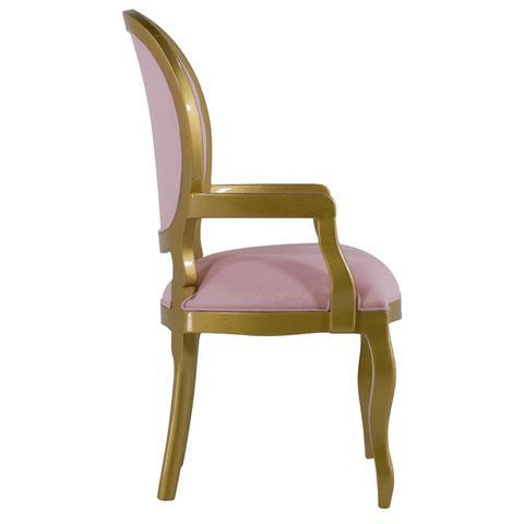 Imagem de Cadeira de Jantar Medalhão Lisa Com braço - Wood Prime 14684
